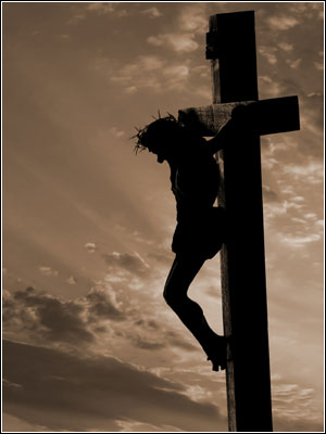 主耶稣被钉在十架上